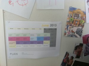My wall planner
